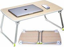 Salcar - Stabiler Laptop Betttisch 70*50cm verstellbarer Lapdesk, tragbarer Laptop-Tisch, Laptopständer für Frühstücks, Notebook, Bücher, Minitable, Bett Tablett - Holzfarbe