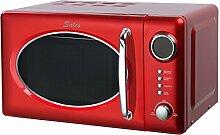 Salco Design Retro Mikrowelle mit Grillfunktion ro