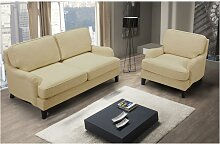 SALE - 2-Sitzer-Sofa MOANDA - Stoff - Beige