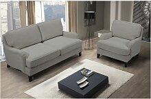 SALE - 2-Sitzer-Sofa MOANDA - Stoff - Grau