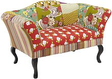 SALE - 2-Sitzer-Sofa Patchwork Stoff Spania