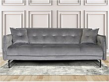 SALE - 4-Sitzer-Sofa DALMA - Samt - Grau