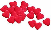 SALE Herz Dragees Groß rot 1 kg in 5 Farben