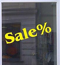 Sale % Schaufensterbeschriftung Aufkleber Werbung