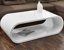 SalesFever Couch-Tisch weiß Hochglanz 120x60cm
