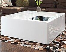 SalesFever Couch-Tisch weiß Hochglanz aus MDF