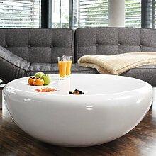 SalesFever Couch-Tisch weiß Hochglanz rund aus