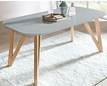 Salesfever Esstisch Massivholz oval weiß / 120x80