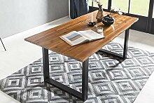 SalesFever Esstisch mit Baumkante aus massivem