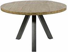 SalesFever Esstisch rund 120 cm aus Mangoholz mit