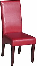 SalesFever Esszimmer-Stuhl im 4er Set mit rotem