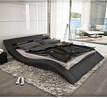SalesFever Polster-Bett 200x220 cm schwarz aus