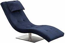 SalesFever Relax-Liege Tiara in Blau | Bezug in