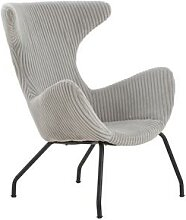 SalesFever Relax-Sessel   Bezug Texturstoff grau  