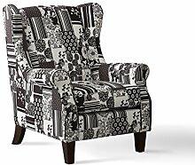 SalesFever Sessel in Schwarz-Weiß, Polstersessel