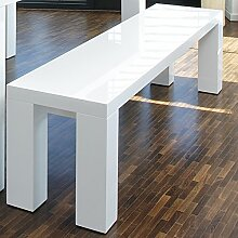 SalesFever Sitzbank weiß Hochglanz Luke L 160 x B 35 cm