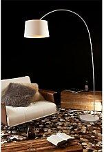 SalesFever Steh-Lampe dimmbar weiß mit Standfuß