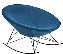 SalesFever® Stilvoller Schaukelstuhl Mona, in Petrol, Designer-Stuhl mit Stoffbezug, gepolstert, Retro-Look, schalenförmiger Sitz, bequemer Sitzkomfor