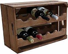 SALIX Apple Box Wein Rack 10Flasche