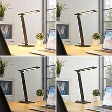 Salome - dimmbare LED-Schreibtischlampe, schwarz