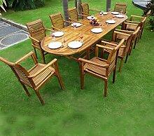 Salon de jardin en teck pour 10 personnes 10 x fauteuils