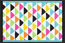 Salonloewe Fußmatte Color Triangles bunt 050x075