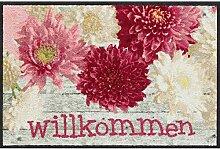 Salonloewe Fußmatte Dahlia Willkommen 050x075