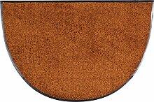 Salonloewe Fußmatte waschbar Toffee Halbrund