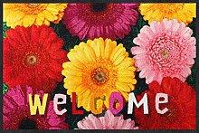 Salonloewe Fußmatte Welcome Gerbera 050x075