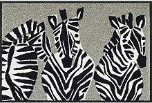 Salonloewe Fußmatte Zebra grau 050x075