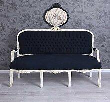 Salonsofa Barocksofa Couch Sitzbank Barock Schwarz
