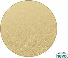 Salsa Design HEVO® Sisal Teppich beige mit klassischer Kettelkante 200 cm Ø Rund