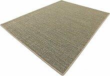Salsa Design HEVO® Sisal Teppich Granit mit beiger Kettelkante 200x300 cm