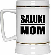 Saluki Mom - Beer Stein Bierkrug Keramik
