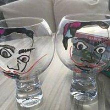 Salvador Dali Gin & Tonic Glas mit Kristallen