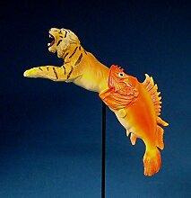 Salvador Dali Tiger mit Fisch Skulptur Plastik SD09