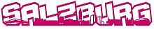 Salzburg Schriftzug Skyline Aufkleber in 8 Größen und 25 Farben (120x20cm pink)