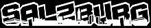 Salzburg Schriftzug Skyline Aufkleber in 8 Größen und 25 Farben (100x16,7cm weiß)