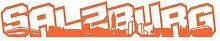 Salzburg Schriftzug Skyline Aufkleber in 8 Größen und 25 Farben (25x4,2cm orange)