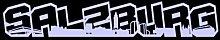 Salzburg Schriftzug Skyline Aufkleber in 8 Größen und 25 Farben (120x20cm flieder)
