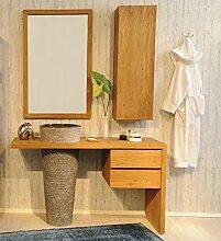 SAM Badezimmer-Set Kubu Bangli aus Teak-Holz, mit
