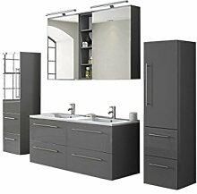 SAM® Badmöbel-Set 4-tlg, hochglanz grau,
