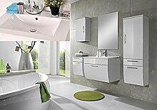 SAM® Badmöbel-Set Santana 5tlg, 70 cm, in weiß, Mineralgussbecken in eckig, mit Softclose-Funktion, 1 x Spiegel, 1 x Waschplatz, 1 x Hochschrank, 1 x Unterschrank, 1 x Hängeschrank