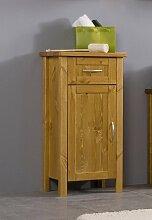 SAM® Design Badezimmer Badmöbel Unterschrank Valencia in honig, Badschrank aus lackiertem Kiefer, massives Kiefernholz, landhäuslicher Stil, edelstahl-farbene Griffe, viel Stauraum