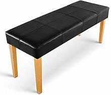 SAM® Esszimmer Sitzbank Enzio 110 in schwarz mit buche-farbigen Beinen aus Pinien-Holz, Bank in 110 cm Breite, SAMOLUX®-Bezug für angenehmen Sitzkomfort, frei aufstellbare Essbank ohne Rückenlehne