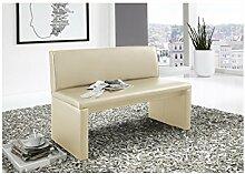 SAM® Esszimmer Sitzbank Family Cruse, 160 cm Breite, in creme, Sitzbank mit Rückenlehne aus Samolux®-Bezug, angenehmer Sitzkomfort, frei im Raum aufstellbare Bank