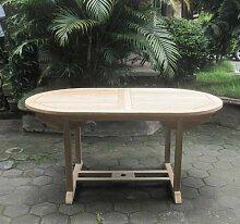 SAM® Garten-Tisch Aruba, Teak-Holz, Auszieh-Tisch (180 - 240 cm) mit Schirmloch, Terrassen-Möbel aus Holz, Teakholz-Möbel mit geschliffener Oberfläche, Massivholz-Möbel für Garten oder Terrasse