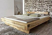 SAM® Holzbett James 160 x 200 cm Bett aus geölter Wildeiche Holz massiv