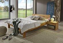 SAM® Jugend Massivholz Kernbuche Bett Elisa 140 x 200 cm Holzbett aus Buche geöl