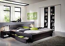 SAM® Massiv-Holzbett Columbia mit Bettkästen, in